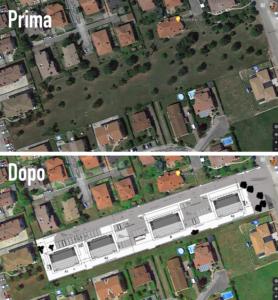 PLANIMETRIA Salviamo il parco comunale di Aquileia - Zona Verde in Corso Gramsci - no cementificazione