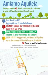 Firma la petizione per salvare il Parco Comunale di Aquileia